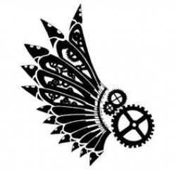 Steampunk clipart wing