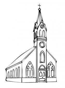 Steeple clipart church doors