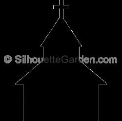 Chapel clipart silhouette