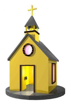 Steeple clipart small church
