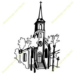 Steeple clipart wedding church
