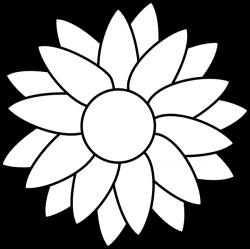 Templates  clipart sunflower