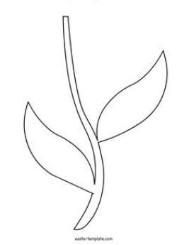 Stem clipart flower template