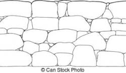 Boulder clipart rock wall