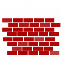 Stone Wall clipart red brick