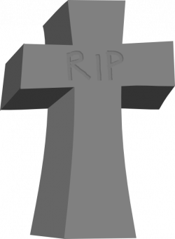 Drawn headstone animated