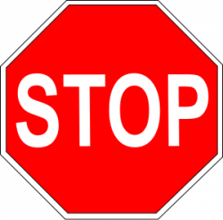 Stop clipart large