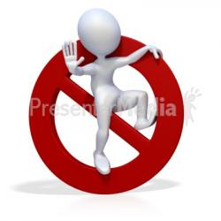 Stop clipart prohibited