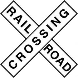 Rails clipart railway crossing