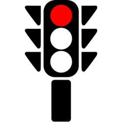 Stop clipart red light