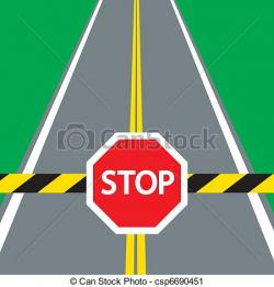 Stop clipart road traffic