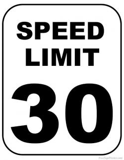 Stop clipart speed limit