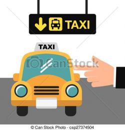 Stop clipart taxi