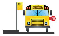 Stop clipart the bus