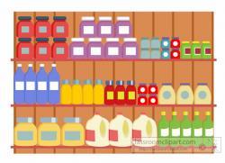 Shelf clipart grocery store shelf