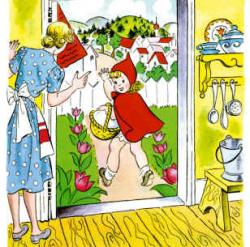 Red Riding Hood clipart mom