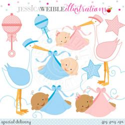 Stork clipart baby carrier