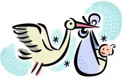 Stork clipart baby shower