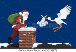 Stork clipart christmas