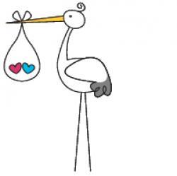 Stork clipart cute