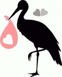 Stork clipart silhouette