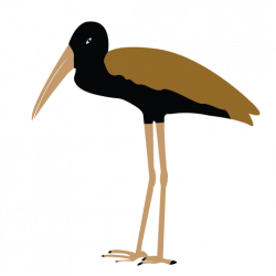Stork clipart yellow