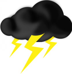 Thunderstorm clipart thunder and lightning