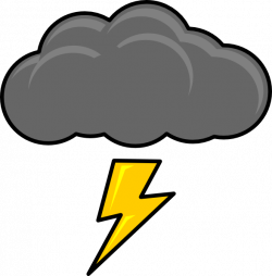 Thunderstorm clipart lighting storm