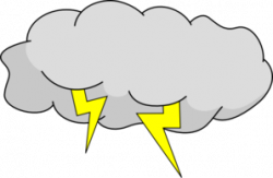 Lightening clipart thunderstorm cloud
