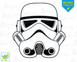 Star Wars clipart stormtrooper helmet