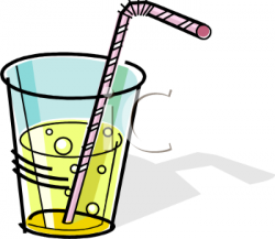Beverage clipart cup straw