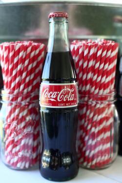 Coca Cola clipart drinking straw