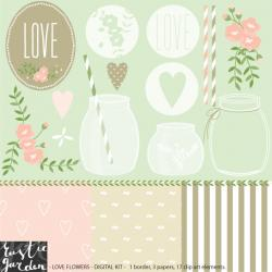 Rustic clipart shabby chic