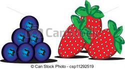 Blueberry clipart strawberry