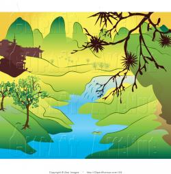River Landscape clipart stream