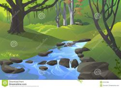 Forest clipart water stream