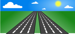 Freeway clipart straight street