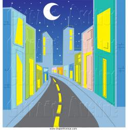 Urban clipart city background