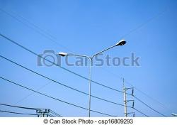 Streetlight clipart electricity post
