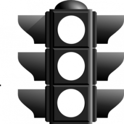 Traffic Light clipart black and white