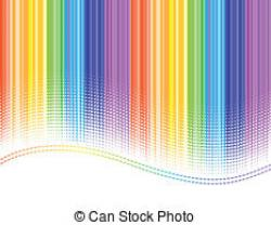 Stripes clipart rainbow background