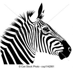 Stripe clipart zebra head