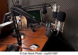 Estudio clipart radio jockey