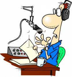 Estudio clipart radio announcer