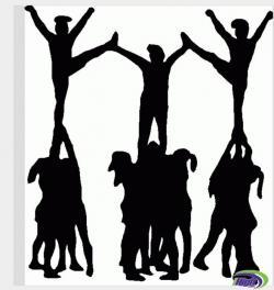 Stunt clipart cheer team