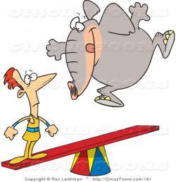 Elephant clipart thin