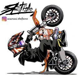 Yamaha clipart stunt