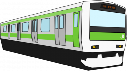 Railways clipart modern train