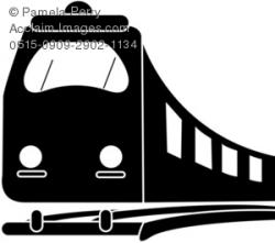 Railways clipart black and white
