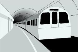 Underground clipart railway platform